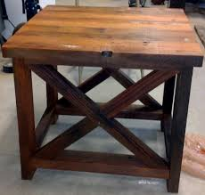 ... Coffee Table Aged Wood Rustic End Table Rustic Coffee Tables Intended  For Wood End Tables ...