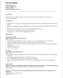 Sample Resume For Recruiter Position Resume For Recruiter Position