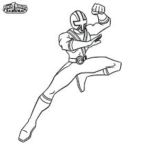 Power Ranger Samurai Coloring Pages Rangers Gold Chronicles Network