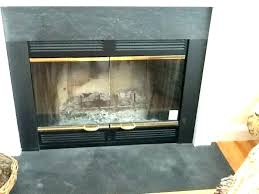 replace door glass s best gas cleaner fireplace panel replacement