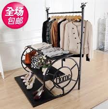Coat And Bag Rack Coat hangers clothing store clothing display shelf showcase island 82