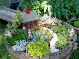 Kate Larsen made her charming Fairy garden in a barrel
