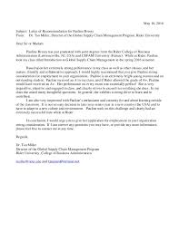Intro To Recommendation Letter Recommendation Letter Prof Miller