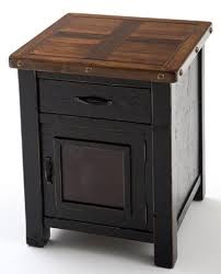 end table. Painted End Table One Drawer Door