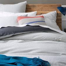 blue stripe duvet cover gallery ticking stripe quilt cover pillow shams bedroom redo