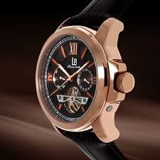 louis bolle men 039 s axel multifunction automatic black leather image is loading louis bolle men 039 s axel multifunction automatic