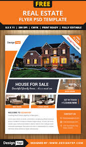 Real Estate Brochure Template Free Free Real Estate Flyer Psd Template Designyep