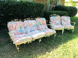 wrought iron patio furniture cushions. Wrought Iron Chair Cushions Vintage Patio Furniture W C