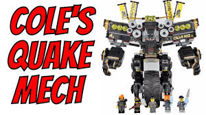 LEGO Ninjago Movie - Cole's Quake Mech Unboxing, Speed Build & Review 70632  - YouTube