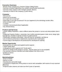Business Plan Sample Pdf Best Of Executive Summary Example Executive