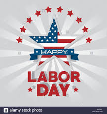 labor day theme star of labor day in usa theme vector illustration stock vector art