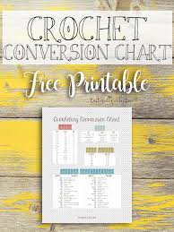 Crochet Conversion Chart Free Printable Tastefully Eclectic