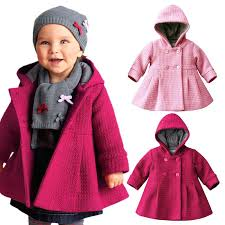 toddler pea coat infant kids girls toddler warm fleece hooded winter pea coat snow jacket kids