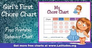Free Printable Chore Charts For Kids Acn Latitudes