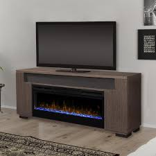 dimplex prism haley 76 inch electric fireplace media console acrylic ice embers rift