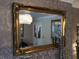large antique gold shabby chic ornate