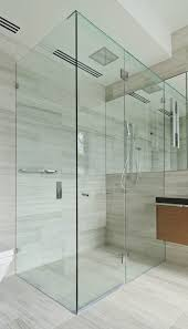 corner hinged frameless shower