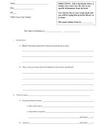 report outline template co report outline template