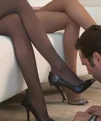 Femdom Shoe Worship Nylon