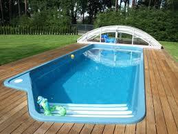small rectangular pool designs.  Rectangular Fiberglass Swimming Pools With Wooden Deck Material And Small Rectangular  Pool Intended Designs S