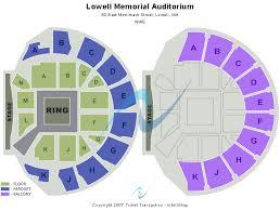 Lowell Memorial Auditorium Seating Chart