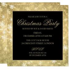 Formal Christmas Party Invitations Gold Formal Christmas Corporate Holiday Party Invitation