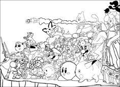Small Picture Super Smash Bros Coloring Pages Ideias para a casa Pinterest