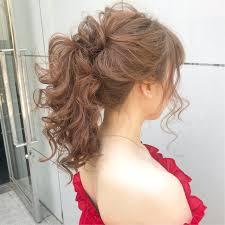 結婚式 ナチュラル セミロング ヘアアレンジlano By Hair ボブ切り