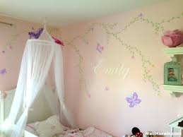 wall murals for girls bedroom girls room mural flowers vines name wall murals childrens bedrooms