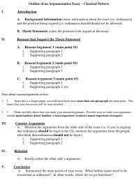 argumentative essay sample essay sample rubric the primitive view larger gallery for argumentative essay structure