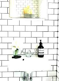 what color grout to use with white subway tile try using a contrasting such brown dark kitchen