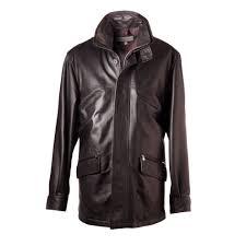 men s 3 4 length car coat in leather