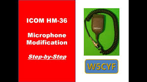 icom hm 36 microphone modification icom hm 36 microphone modification