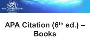 Apa Citation 6th Ed Books