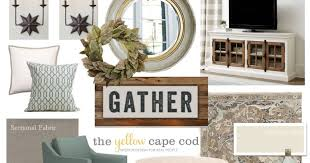 Cape Cod Living Room Magnificent The Yellow Cape Cod Joanna Gaines Inspired Living Room And Dining Room
