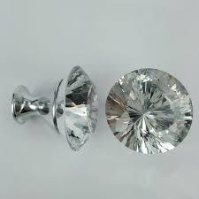crystal furniture knobs. 40mm Rhinestone Dresser Door Handles Knobs Chrome Silver Glass Crystal Drawer Cabinet Pulls Modern Fashion Furniture B