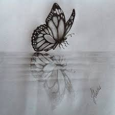 water reflection drawing. #butterfly #water #acqua #reflection #mirror #riflessi #fa\u2026 | flickr water reflection drawing d