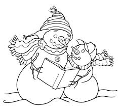 Small Picture Coloring Pages Printable Snowman Coloring Pages Coloring Me