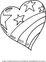 Small Picture Free large heart painted like the american flag coloring page 51