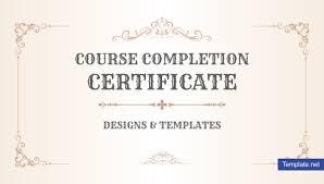 School Certificate Design Psd 19 Course Completion Certificate Designs Templates Psd