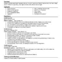 perfect sample of forklift operator resume featuring experience also training and certifications a part of under classic template sample of heavy equipment sample resume heavy equipment operator