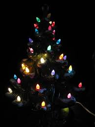 Christmas Trees  EtsyCeramic Tabletop Christmas Tree With Lights