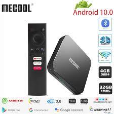 MECOOL KM9 PRO Android 10.0 TV Box Amlogic S905X2 4G DDR4 32G ROM 4K Google  Chứng Nhận Android 9 ATV Tivi Box Thông Minh Điều Khiển Bằng Giọng  Nói Set-top Boxes