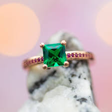 Simple Emerald Ring Design Emerald Engagement Rings Custommade Com