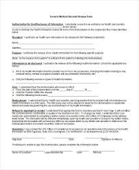 Sample Medical Records Release Form Best Release Of Medical Information Form Heartimpulsarco