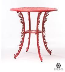 garden round table red seletti