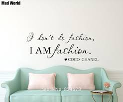 <b>I Don't Do Fashion</b> I Am Fashion Quote Wall Art Stickers Wall Decals ...