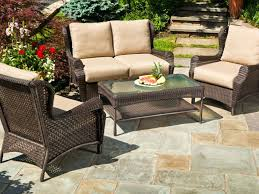 Wicker Chair Cushions Clearance Garden Bench Patio Table Set