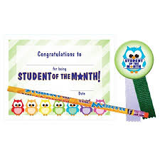 Student Of The Month Certificates Certificate Award Set Student Of The Month Owls Andersons