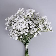 supla 6 stems real touch white gypsophila baby s breath babybreath baby breath faux baby breath